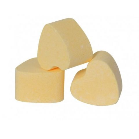 Yellow Lemon Mini Bath Hearts Fizzers - Bath Bubble & Beyond 10g Each